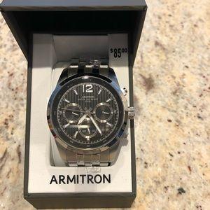 NWT men's armitron stainless steel watch